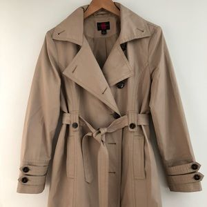 Gallery Classic Beige Trench Coat Size L